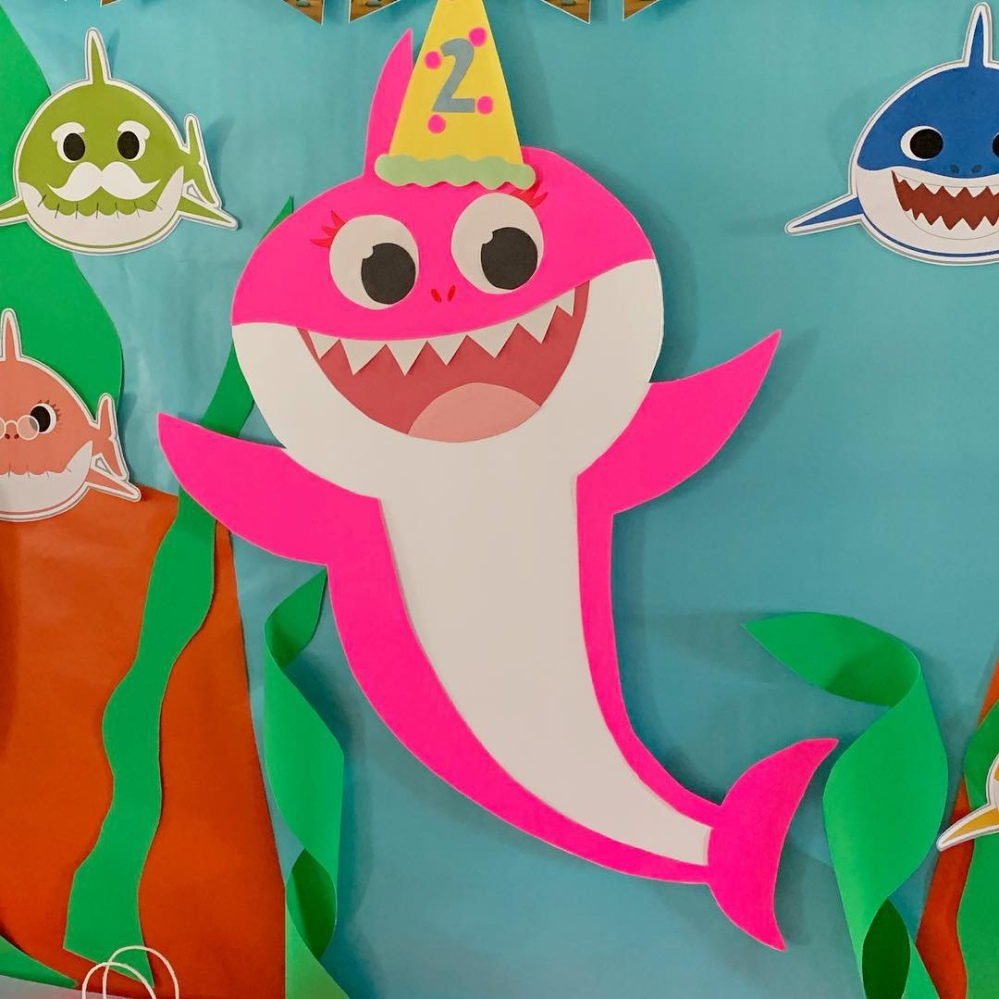 baby shark birthday decorations 1