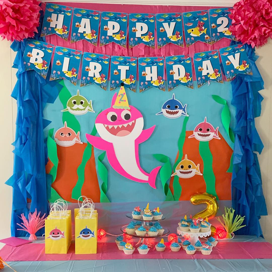 baby shark birthday party decorations 3