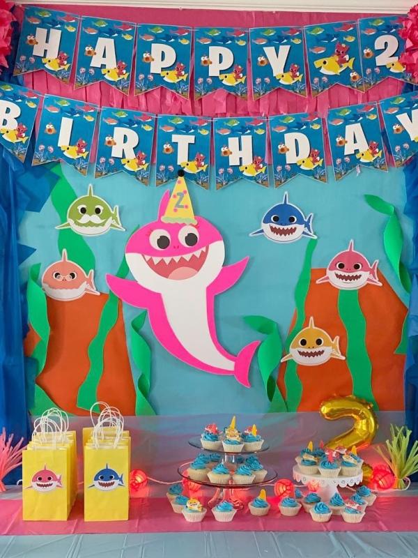 baby shark birthday party decorations 3
