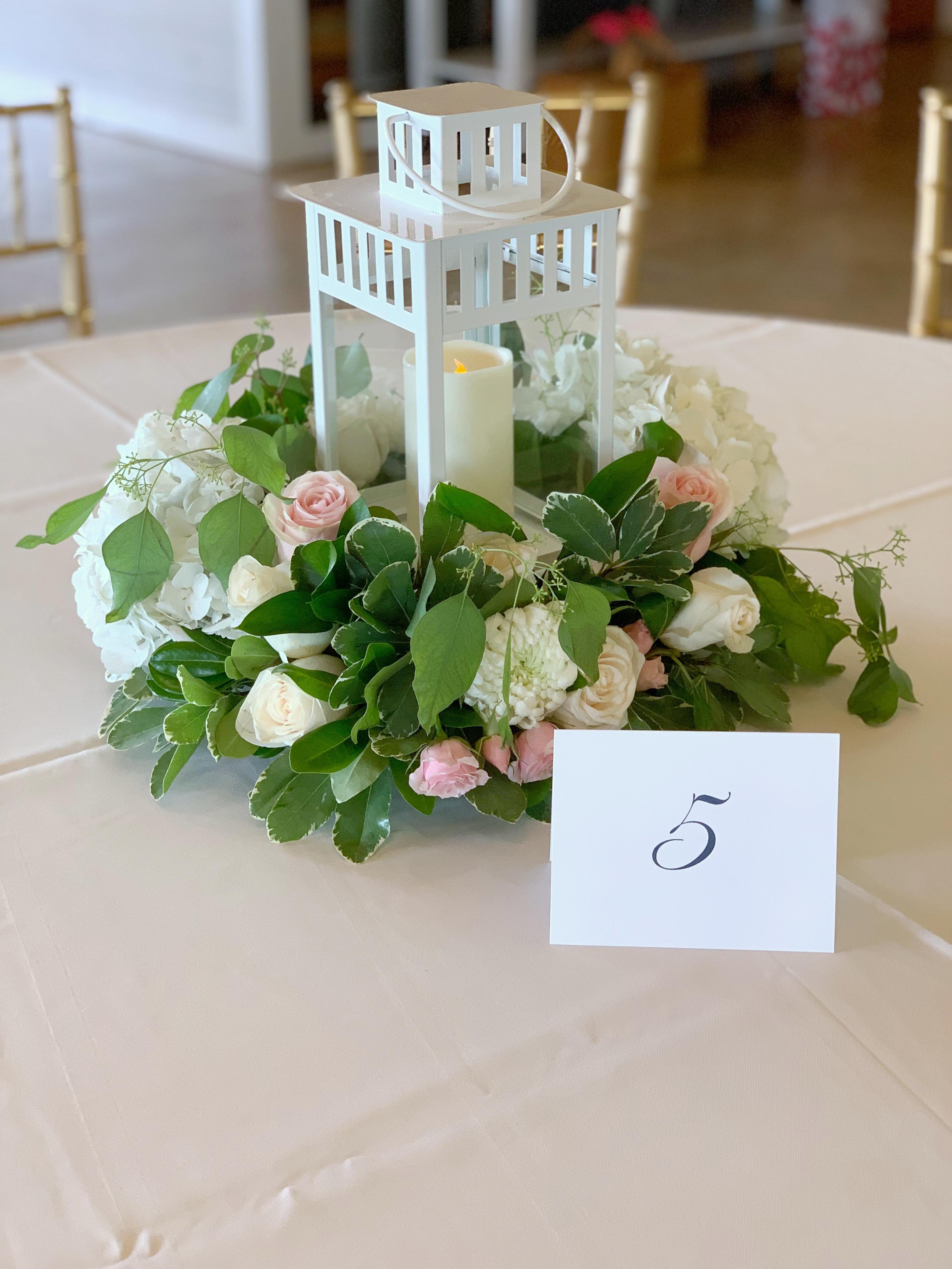 Diy Floral Lantern Wedding Centerpiece Turner Littles
