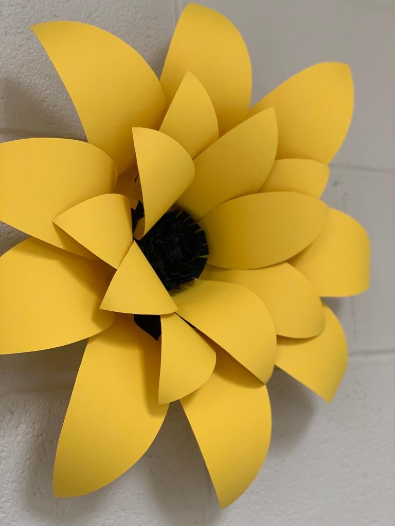 paper sunflower diy