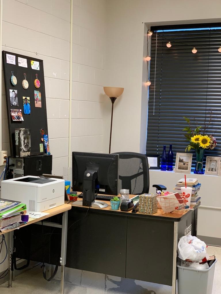 class room desk area